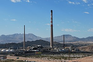 Asarco -  These tall smokestacks at Asarco's El Paso Smeltertown site were brought down in 2013.