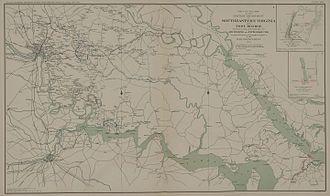 Seven Days Battles - Map of Southeastern Virginia