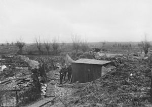55th Battalion (Australia) - The 55th Battalion's line at Wytschaete, near Messines, in February 1918