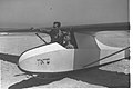 "A MEMBER OF THE ""FLYING CAMEL"" GLIDING CLUB BEING BRIEFED BY INSTRUCTOR BENJAMIN CAHANE BEFORE TAKE OFF ON THE BEACH OF BAT YAM. אימונים של חברי מועדוD2-079.jpg"