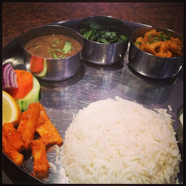 File:A Nepalese Veggie Thali, Traditional Style Of Serving