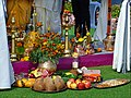 A collection of ritual puja and sacrifice offerings for a Hindu wedding.jpg