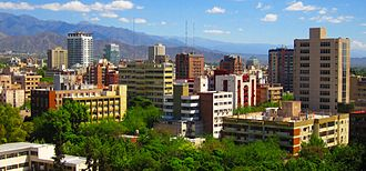Mendoza, Argentina - Panoramic view of downtown Mendoza.