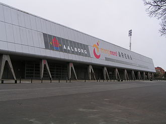 AaB Fodbold - The northern facade of Nordjyske Arena, 2008.