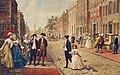 Aaron Burr, Alexander Hamilton and Philip Schuyler strolling on Wall Street, New York 1790.jpg