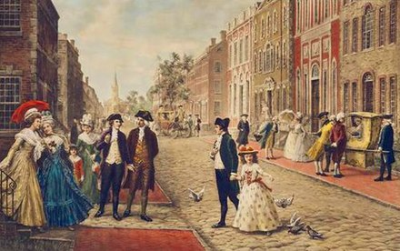 Aaron Burr, Alexander Hamilton and Philip Schuyler strolling on Wall Street, New York, 1790 Aaron Burr, Alexander Hamilton and Philip Schuyler strolling on Wall Street, New York 1790.jpg
