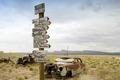 Abandoned cars, Route 66, Arizona LCCN2010630077.tif