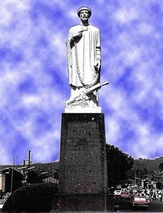 Abune Petros - Statue of St. Abune Petros in Addis Ababa, Ethiopia.