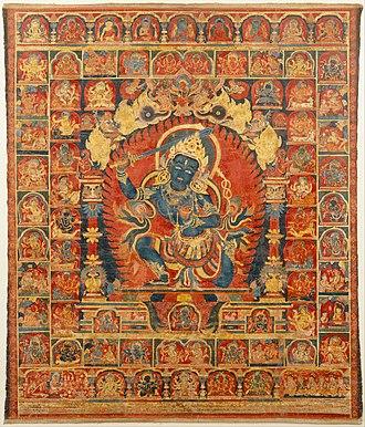 Khanda (sword) - Image: Acala, the Buddhist Protector