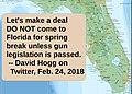 Activist David Hogg urges spring breakers to boycott Florida if no gun legislation is passed.jpg