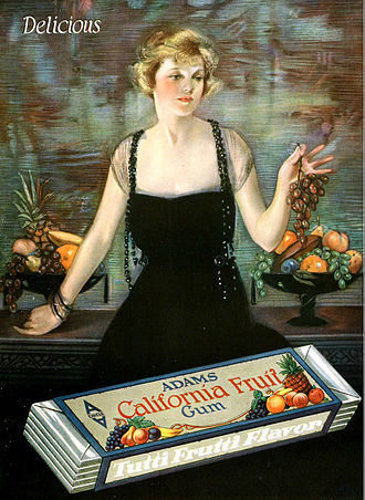 Neysa McMein - Neysa McMein, Adams California Fruit Gum, advertisement, 1920, Motion Picture Classic magazine