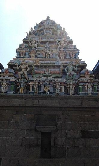 Adikesava Perumal temple, Mylapore - Vimanam of the central shrine