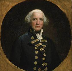 Admiral of the fleet howe 1726 99 1st earl howe by john singleton copley