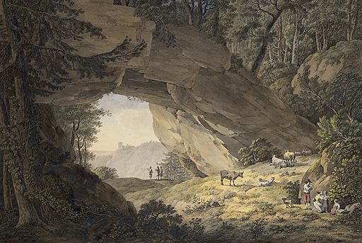 Adrian Zingg, 'The cowshed in Saxon Switzerland', 1786