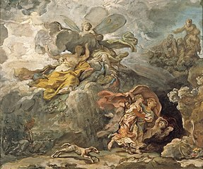 Aeneas and Dido Fleeing the Storm