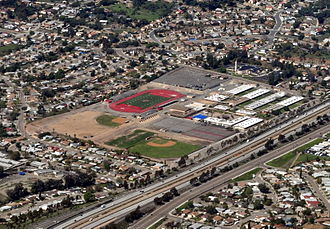 Mount Miguel High School - Aerial view from southeast