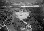 Aerial photo looking W at Memorial Amphitheater under construction - Arlington National Cemetery - Arlington County VA USA - 1919.jpg