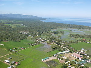 Sultan Kudarat - Aerial view of the western coast of the province