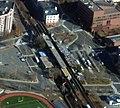 Aerial view of Malden Center station, November 2013.jpg