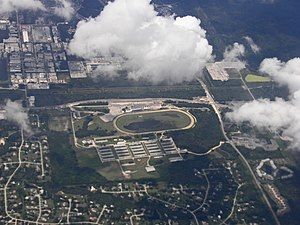 Tampa Bay Downs - Image: Aerial view of Tampa Bay Downs racetrack, Florida