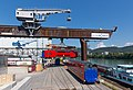Aeroexpress KISS at Auhafen Basel, loading onto barge 1.jpg