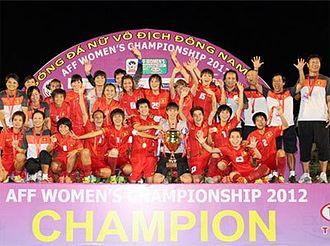 Vietnam women's national football team - Vietnam women's team champions ASEAN Women's Football Championship 2012