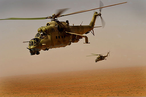 Afghan Air Corps Mi-35 helicopters