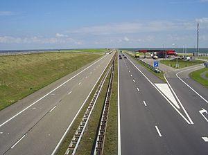 Breezanddijk - Texaco gas station at Breezanddijk on the Afsluitdijk