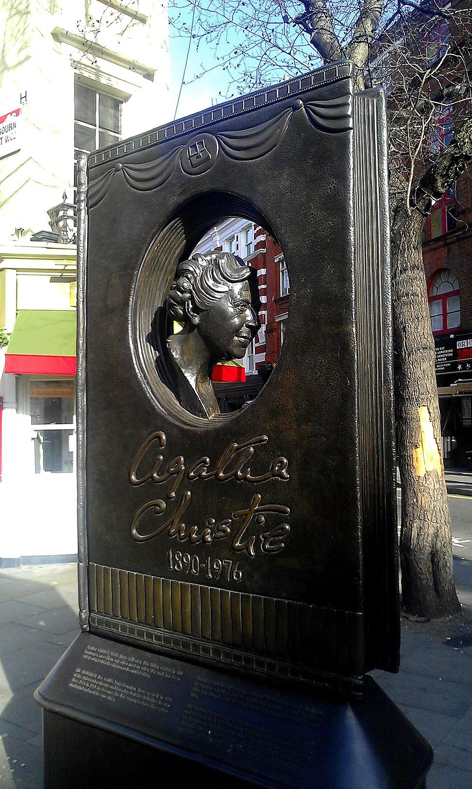 Agatha Christie memorial, central London