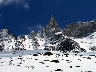 Aiguille de la Tsa - Aiguille de la Tsa from the west side