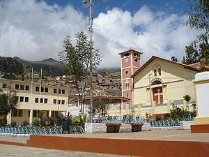 Aija Province - Aija, the capital of the province