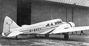 Airspeed Consul - Airspeed Consul of Lancashire Aircraft Corporation at Manchester in 1950 on scheduled service to London (Northolt)