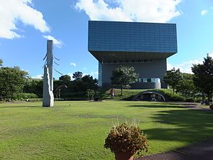 秋田県立近代美術館の建物外観