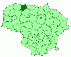 Location of Akmenė District Municipality within Lithuania