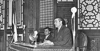 Akram al-Hawrani - Akram Al-Hourani (speaker of the Syrian parliament)
