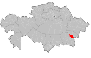 Aksu District, Almaty Region - Image: Aksu District Kazakhstan