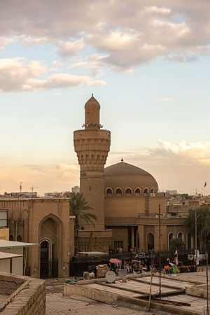 Baghdad - Al Khulafa historical Abbasid mosque in Baghdad