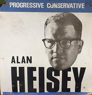 Alan Milliken Heisey Sr. - Image: Alan Heisey PC Candidate June 1968 Canadian Federal Election York Scarborough
