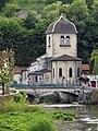 Albarine devant l'église Saint-Antoine de Saint-Rambert-en-Bugey - 18 mai 2014.jpg