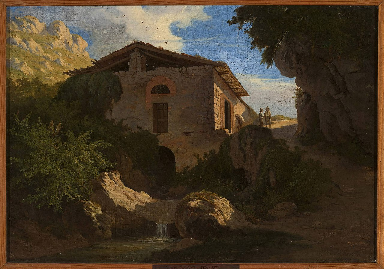 Альберт Жаметт - Итальянский пейзаж - MP 2600 MNW - Национальный музей в Италии Warsaw.jpg