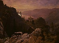Albert Bierstadt - Dawn at Donner Lake.jpg