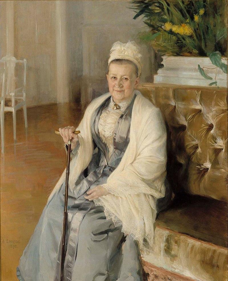 Albert Edelfelt - Portrait of Mrs. Anna Sinebrychoff - A IV 2976 - Finnish National Gallery.jpg