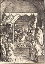 Albrecht Dürer, The Death of the Virgin, 1510, NGA 6747.jpg