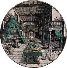 Ганс Вредеман де Врис — Лаборатория алхимика (1595).