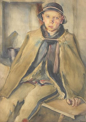 Aleksander Augustynowicz - Image: Aleksander Augustynowicz Portret młodego górala 1921