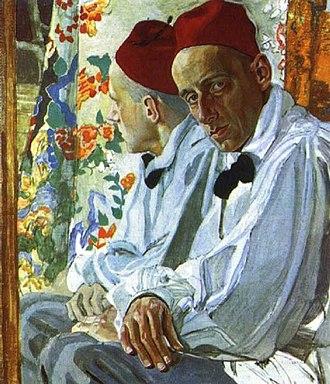 Aleksandr Golovin (artist) - Alexander Golovin's portrait of Vsevolod Meyerhold, 1917.
