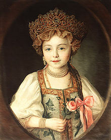 5cb2cde79b995 A Russian girl wearing kokoshnik and sarafan.