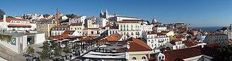 Alfama - Panorama of Alfama from Largo das Portas do Sol