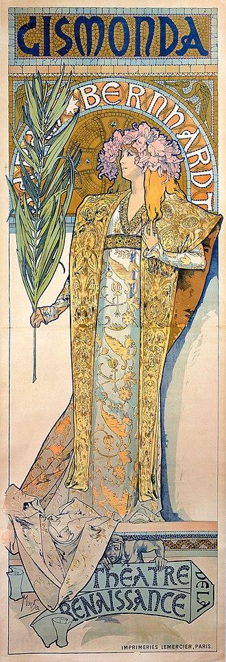 Alphonse Mucha - Poster of Sarah Bernhardt as Gismonda (1895)