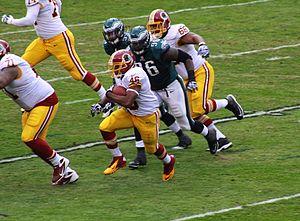 Alfred Morris (American football) - Morris rushing during a game against the Philadelphia Eagles on November 17, 2013.